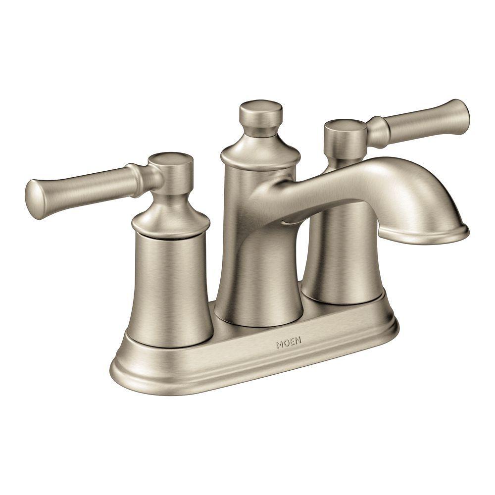 Dartmoor 4 Inch Centerset 2 Handle Bathroom Faucet In Brushed Nickel Bathroom Faucets Sink Faucets Bathroom Sink Faucets