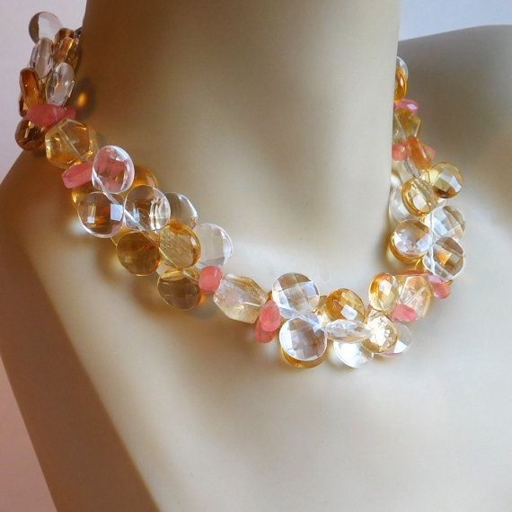 Vintage Double-Strand Glass Bead Necklace  by vintagedazzle