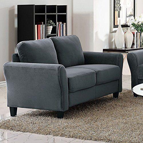 Pearington Coffeen Microfiber Living Room Loveseat Sofa Chair