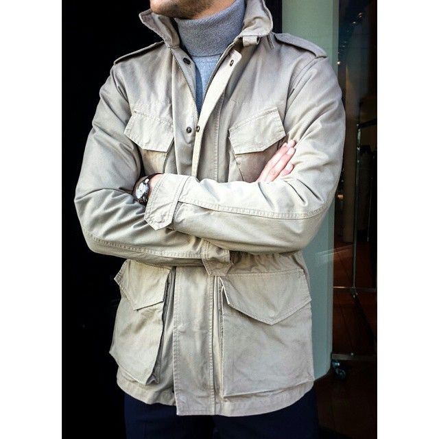 Desafinado jacket with fur lining and cashmere coll by Aspesi #pauw #luxury #aspesi #menswear (bij Pauw Mannen)