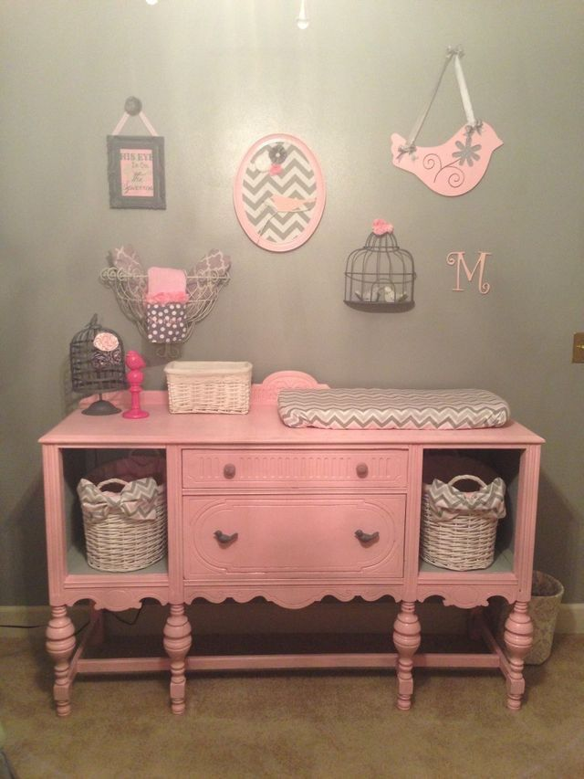 Old Sideboard Beautifully Upcycled Into Storage And Baby