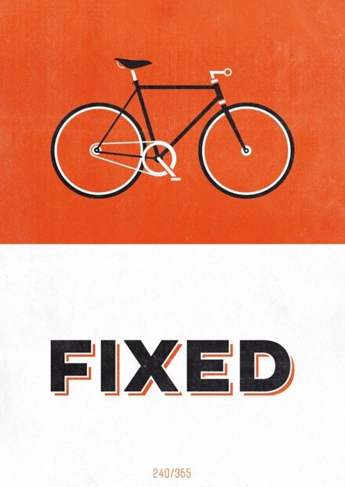 FIXED | bright & bold bicycle design