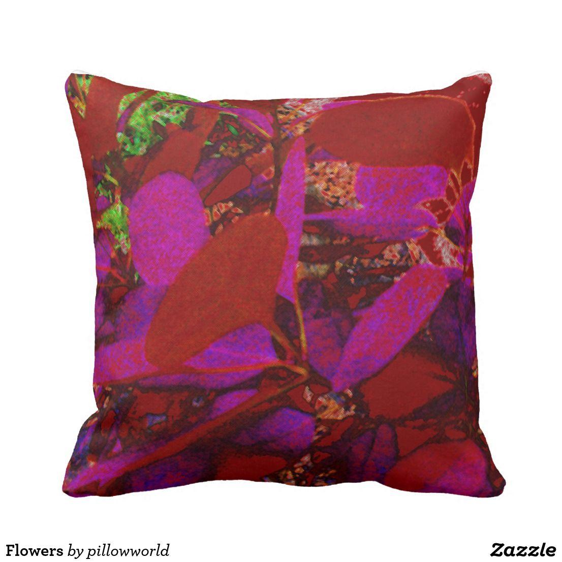 Flowers throw pillow flower throw pillows