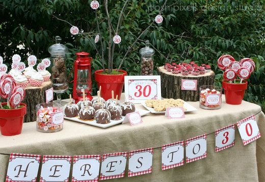 Rustic Birthday Party Ideas 30 birthday parties 30 birthday and