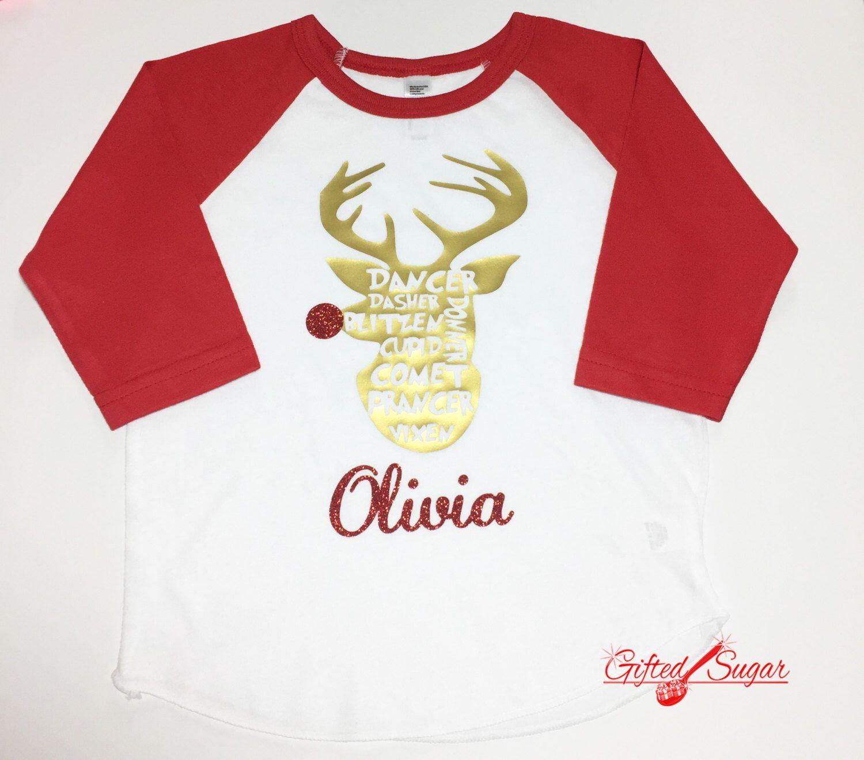 Christmas Shirt, Reindeer Shirt, Christmas, Kids Christmas shirt ...