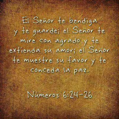 El Señor te bendiga y te guarde
