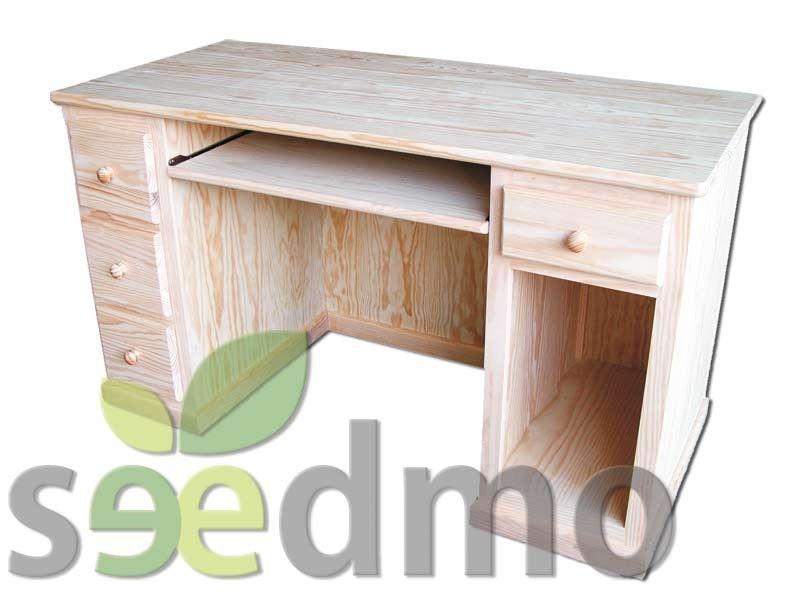 Mesa escritorio ordenador con cajones lowcost decoracion for Escritorio low cost