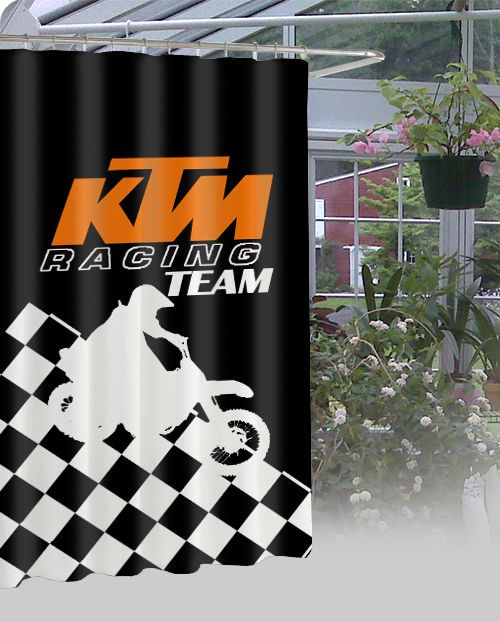 Details About KTM Racing Team Waterproof Bathroom High Quality Shower Curtain 60 X 72