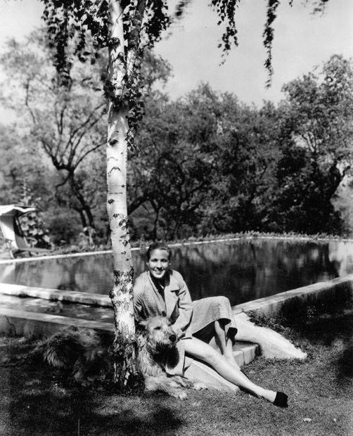 Douglass Montgomery And His Irish Wolfhound By The