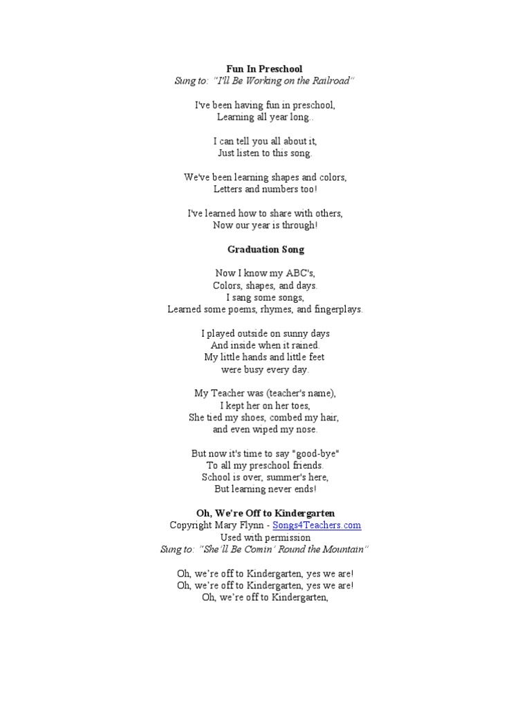 Graduation Songs And Poems Download As Word Doc Doc Pdf File
