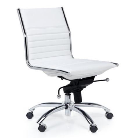 Malcolm Armless Chair White From Z Gallerie Interior