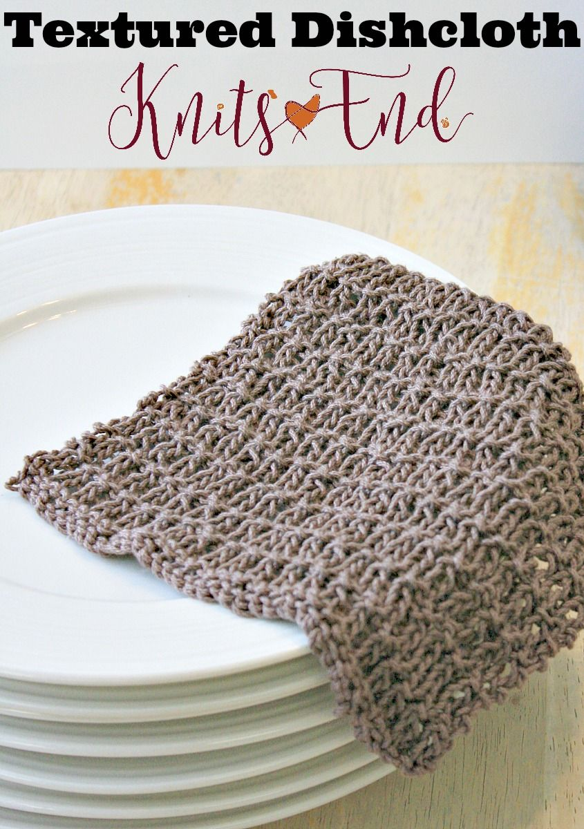 Easy Knitting Pattern for a Textured Dishcloth worked in 100 ...