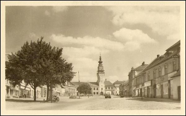 Boskovice - náměstí (1943)