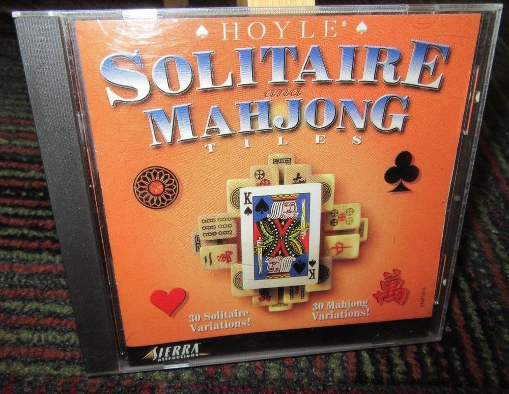 HOYLE: SOLITAIRE & MAHJONG TILES PC CD-ROM GAME BY SIERRA