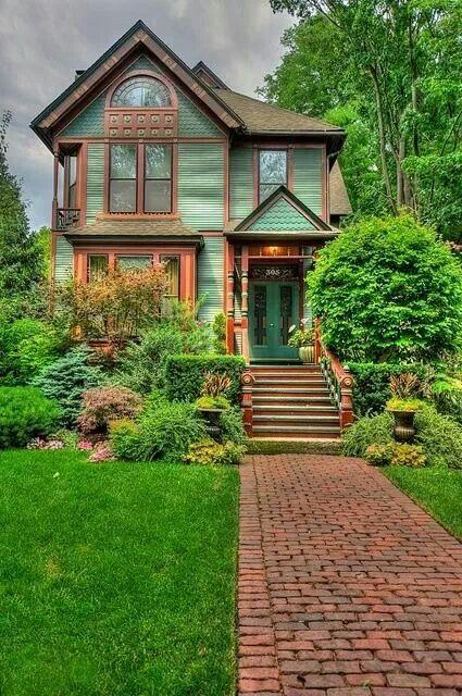 Seafoam Cottage Victorian House Colors Exterior House Colors Victorian Homes