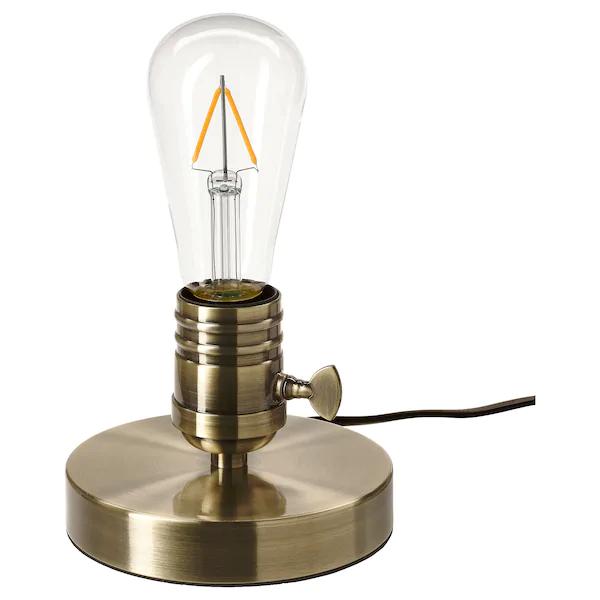 MEGAGRAM Table lamp brushed metal brass IKEA