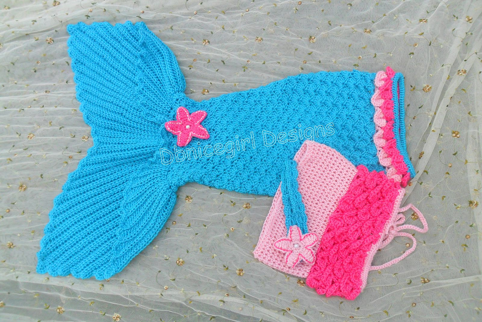 Mermaid Costume, 4 piece set with Open Tail Mermaid Skirt pattern by ...