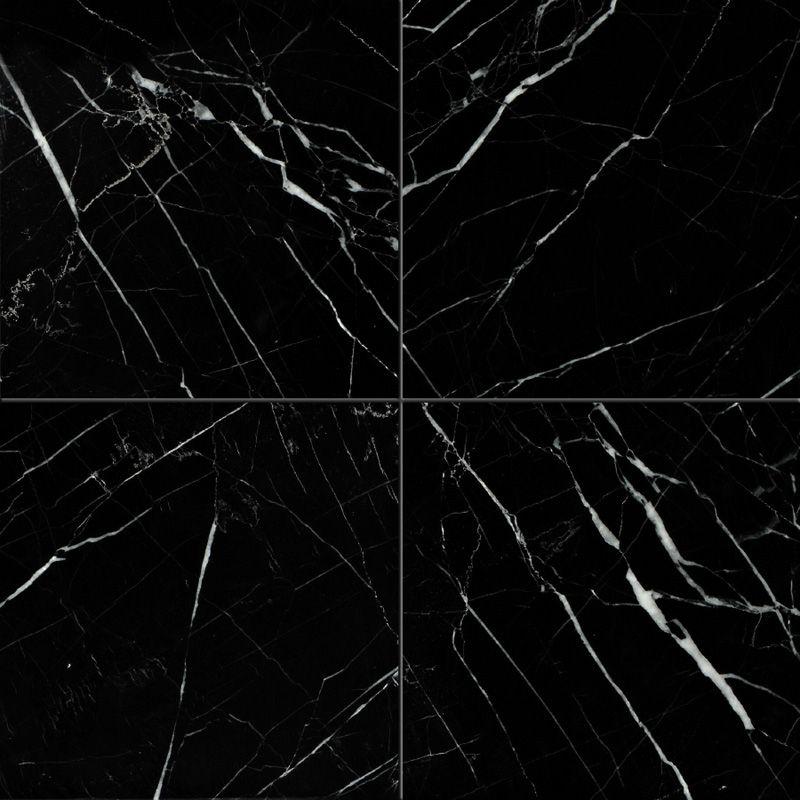 Black Polished 12 215 12 Marble Tiles Living Room