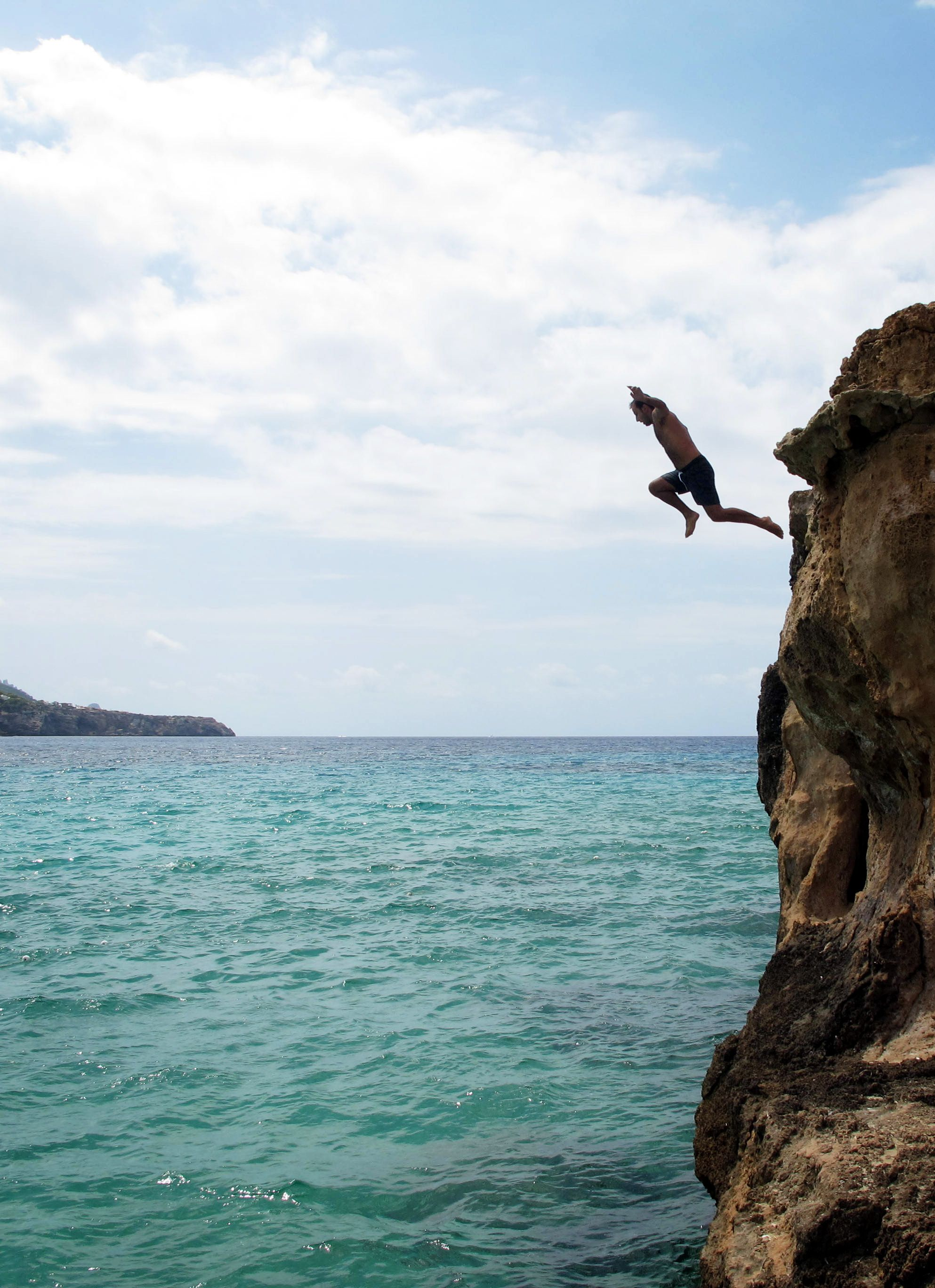 Jumping Off A Cliff Tumblr Gif