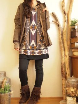 秋冬コーディネートVOL.2 エスニックボヘミアンファッション エスニックなら通販サイトshams
