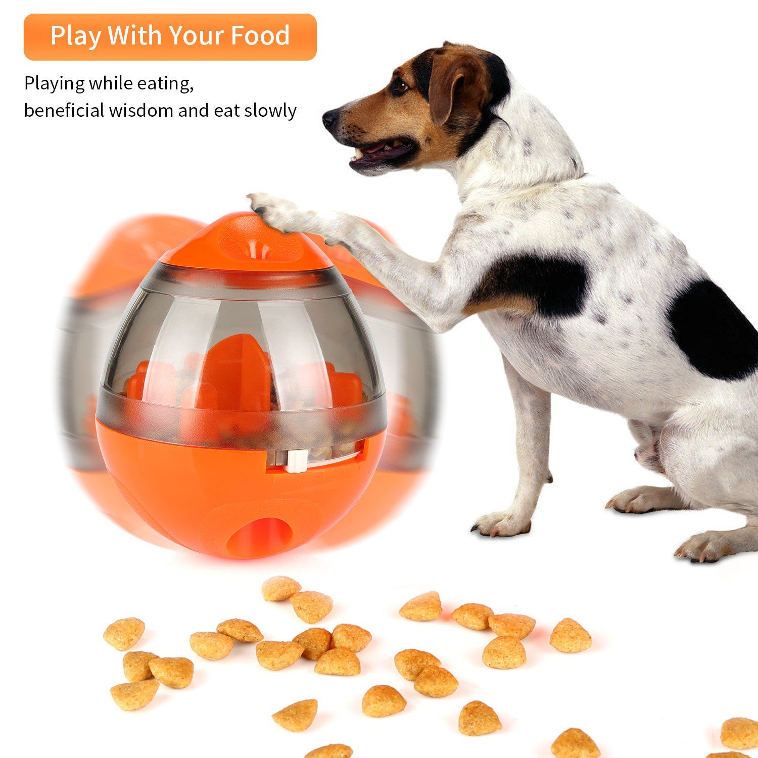 Onson Interactive Dog Toy Food Dispenser Ball Toy For Small Medium