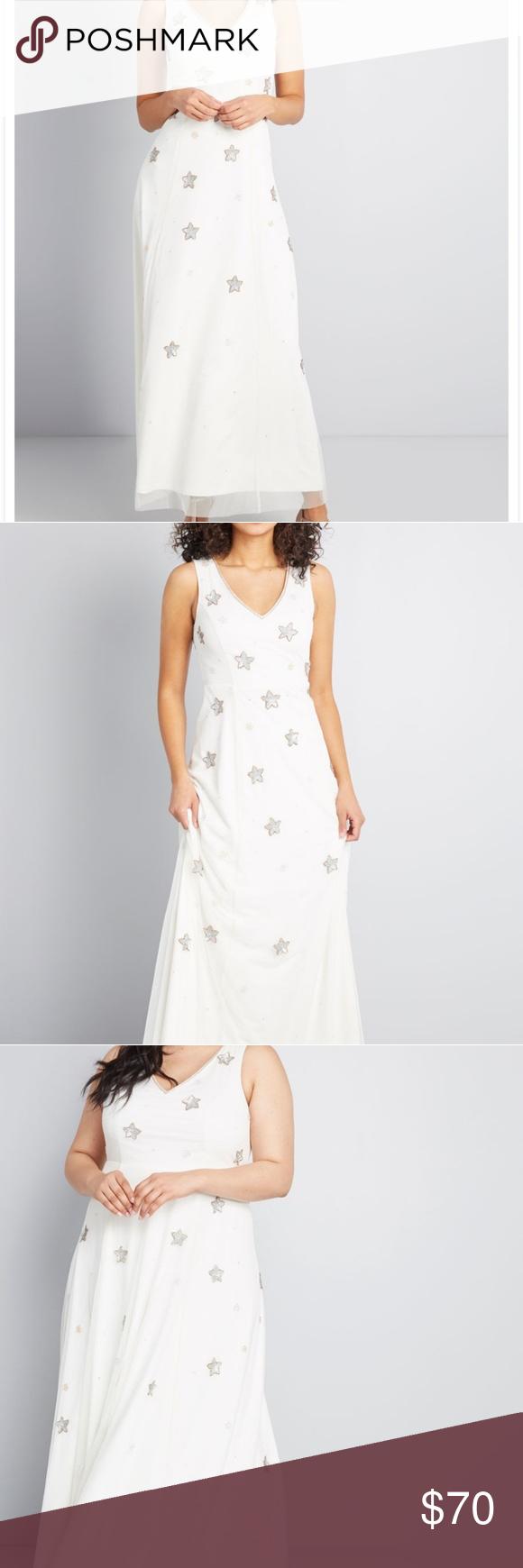 Nwt Modcloth Under The Stars Maxi Dress 4x Mod Cloth Dresses Maxi Dress Clothes Design [ 1740 x 580 Pixel ]