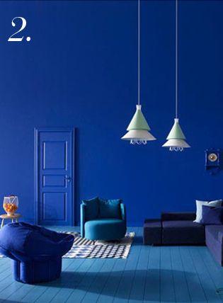 Ultramarine Dream Blue Interior Design Blue Painted Walls