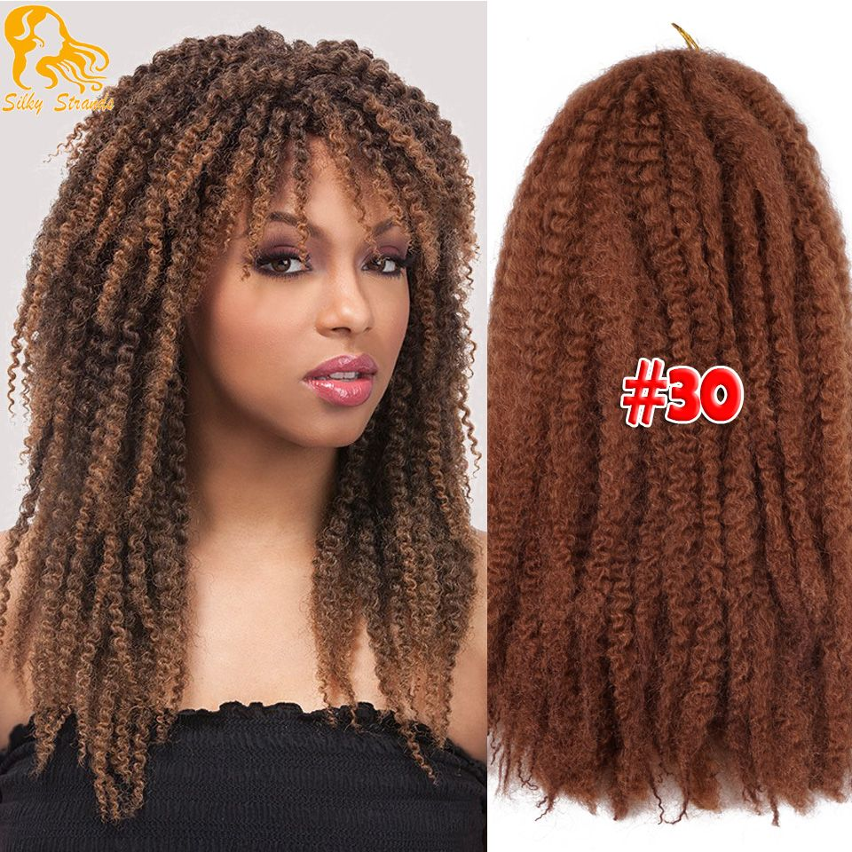 Soft Marley Hair Crochet Braids 18inch Omber Kanekalon Marley Hair