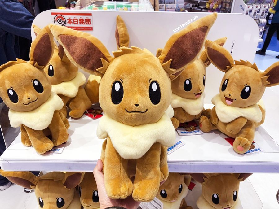 2018 New Japan Pokemon Center Easter Eevee plush toy With Flower Crown Kawaii