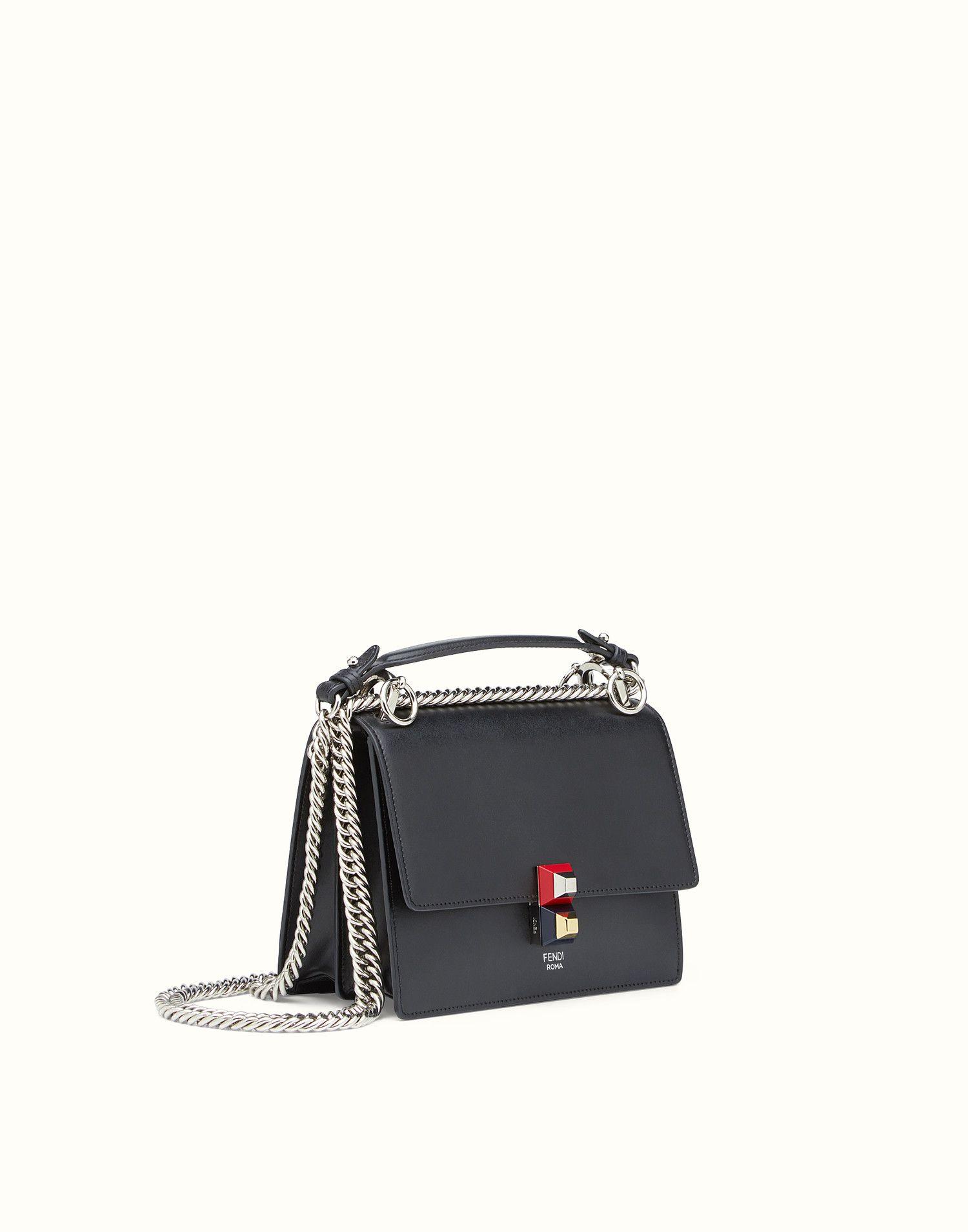 12ec667516 FENDI SMALL KAN I - Black leather mini bag - view 2 zoom