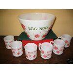 ebay eggnog bowl | eBay Image 1 Fire King Vintage Holiday Egg Nog Bowl, 6 cups No Rsv
