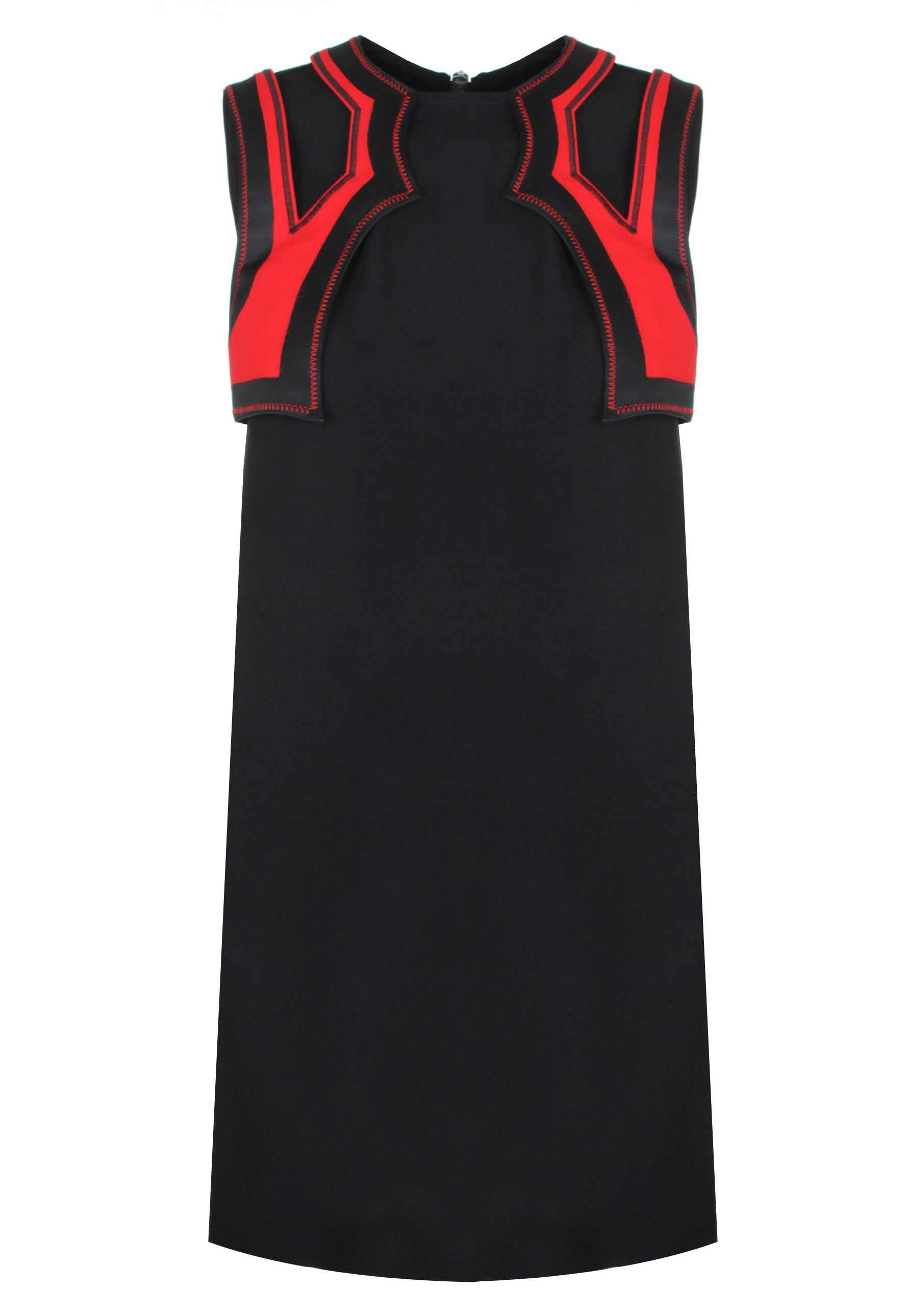 d94d701cce Versus Versace Contemporary Western Mini Dress in black/red. Taking  inspiration from the wild