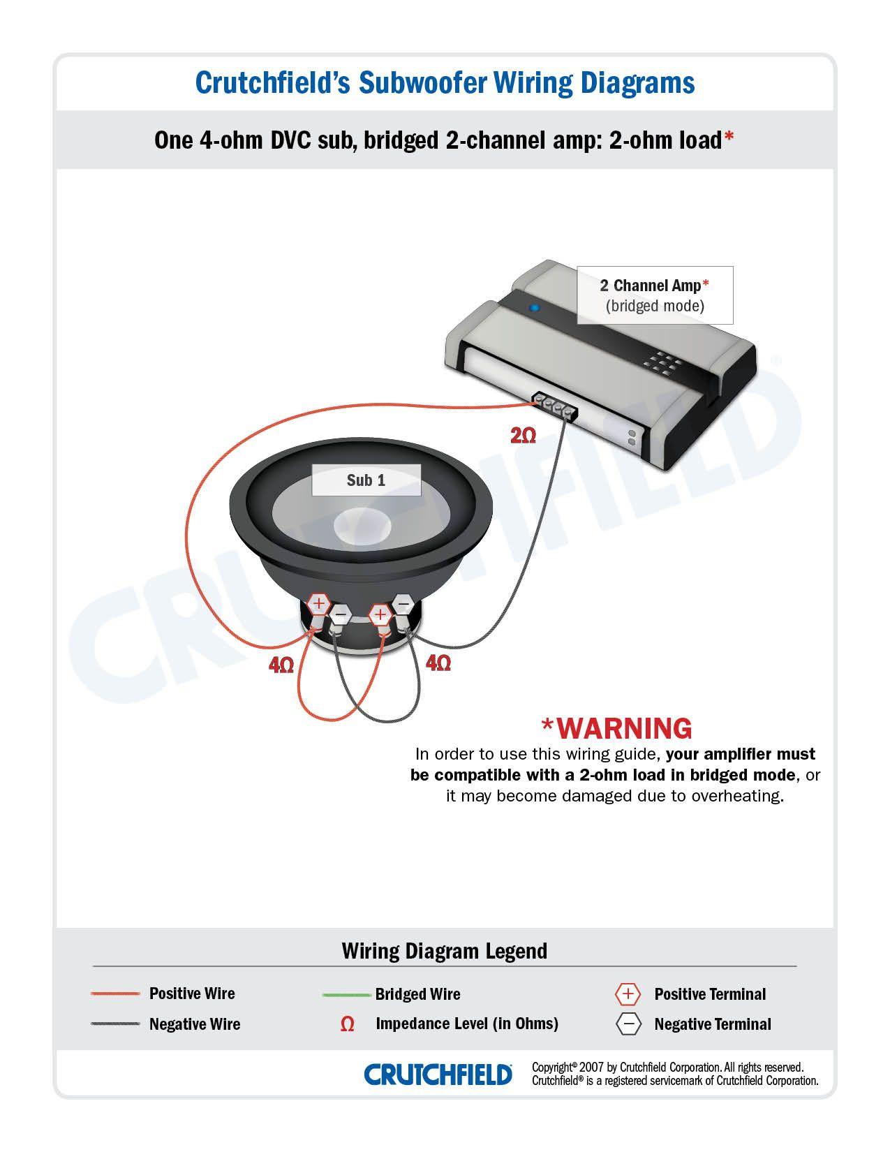 subwoofer wiring diagrams [ 1275 x 1650 Pixel ]