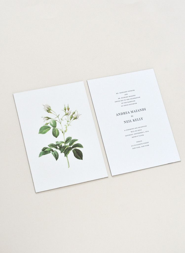 Wedding Invitation For Andrea Neil Paper Type