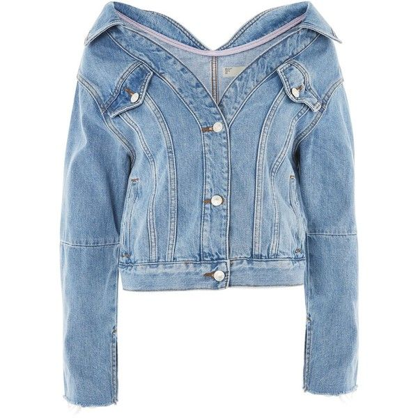 Rote jeansjacke topshop