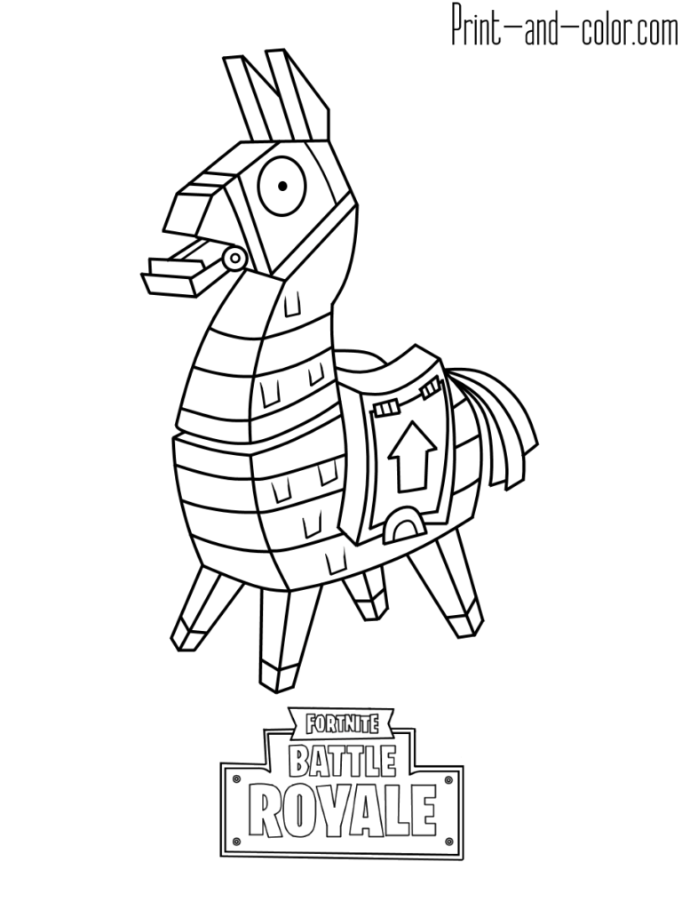 Fortnite Battle Royale Coloring Page Llama Fortnite