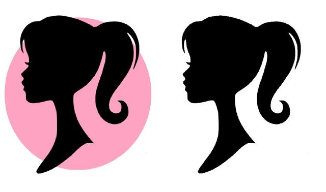 graphic about Free Printable Barbie Silhouette named Cost-free Barbie Silhouette Printable Social gathering Barbie concept