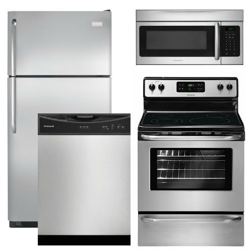 package 16   frigidaire appliance package   4 piece appliance package with top mount refrigerator   stainless steel   gas package 15   frigidaire appliance package   4 piece appliance      rh   pinterest com