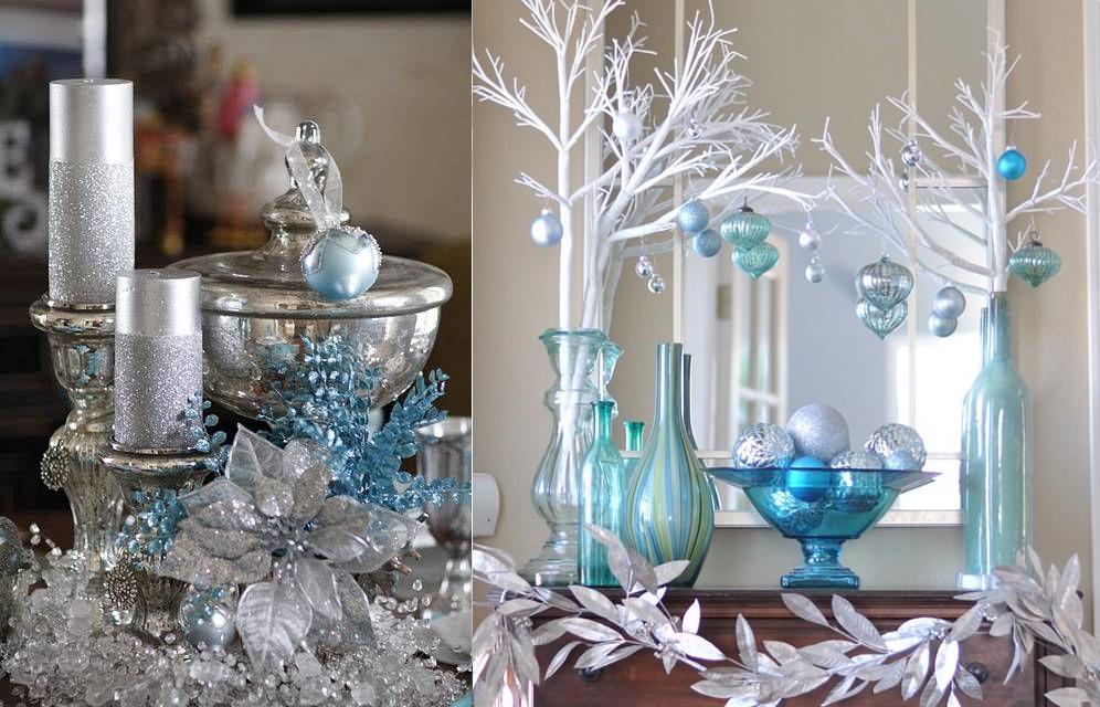 Decoraci n navide a en azul blanco y plata casas ideas for Cosas de casa decoracion navidena