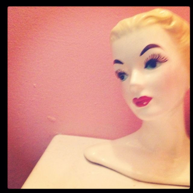 The lady in my bathroom.