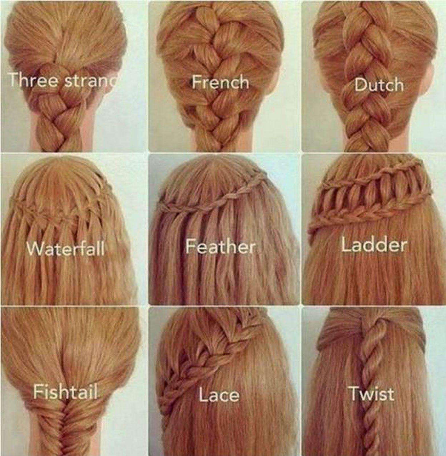 Les Differents Types De Tresses Coiffure Cheveux Tresse Differente Coiffure Natte Coiffure Natte Cheveux