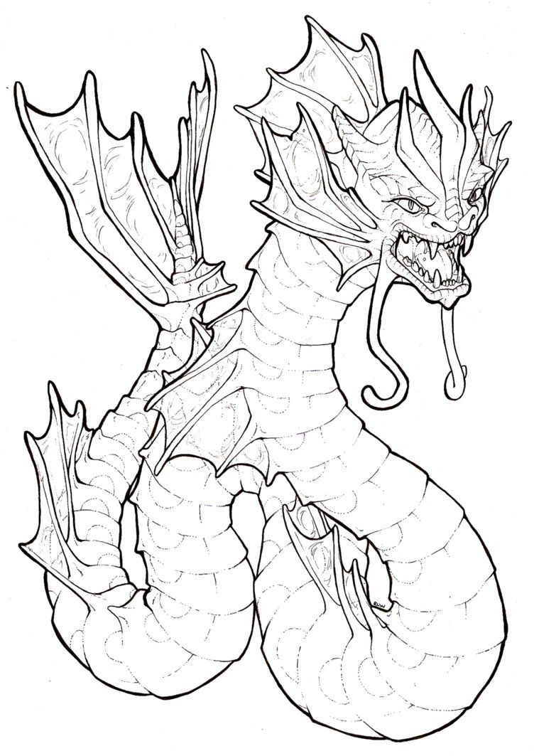 Gyarados Lineart By Barefootfoof On Deviantart Line Art Drawings
