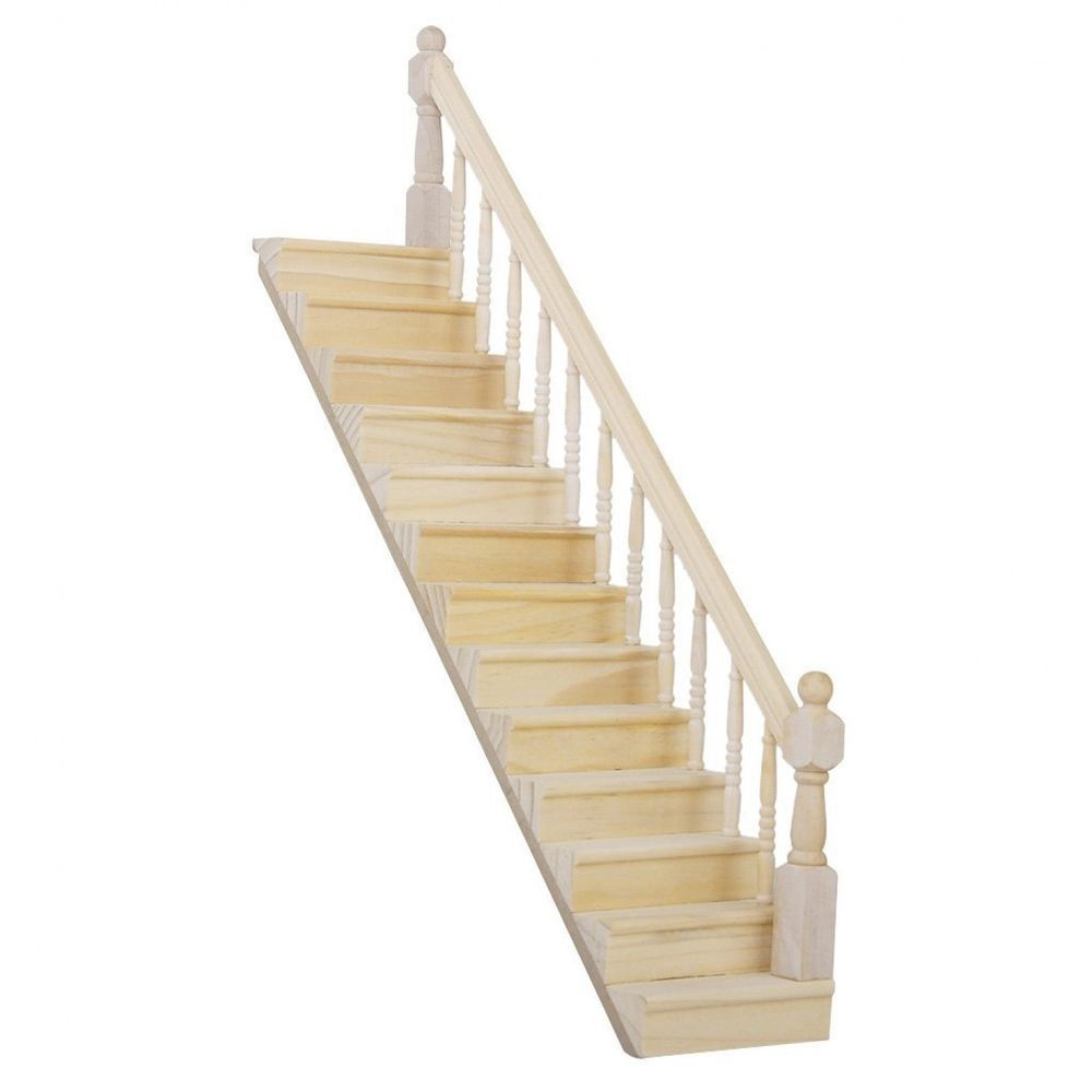 Dolls House Miniature Curved Wood Hand Rail style 1