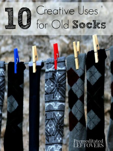 Looking for ways to reuse your worn out or mismatched socks? Try