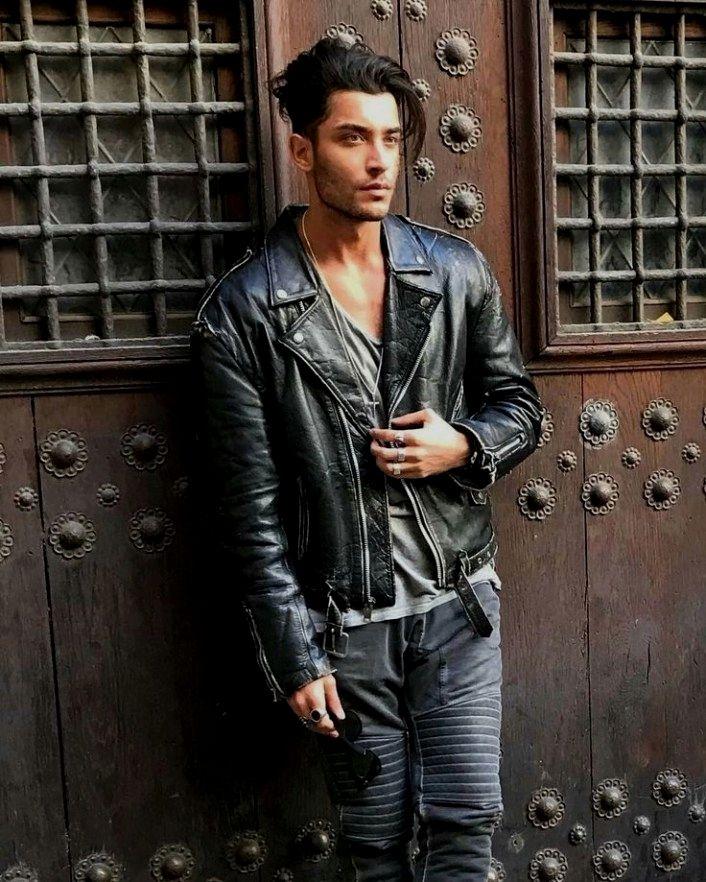 mens jacket h&m. Leather jacket men, Leather jacket men