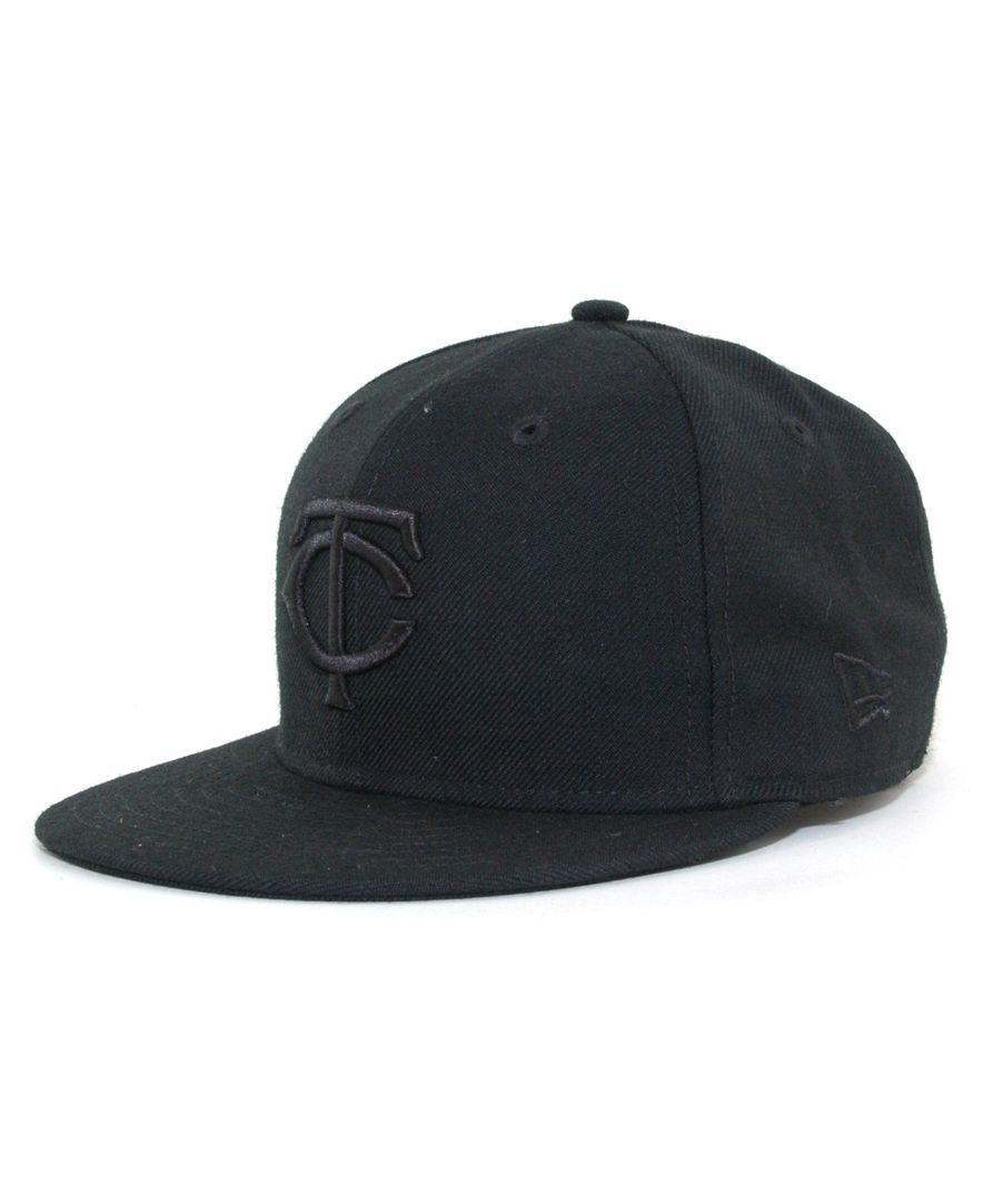 066035d51b0 New Era Kids  Minnesota Twins Mlb Black on Black Fashion 59FIFTY Cap ...