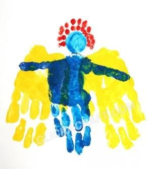 handprint angel craft project easy christmas art crafts for kids