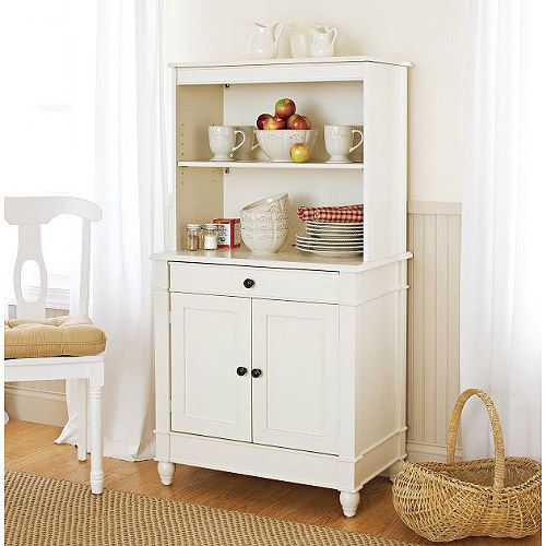 Nice Better Homes U0026 Gardens Storage Cabinet With Hutch, White