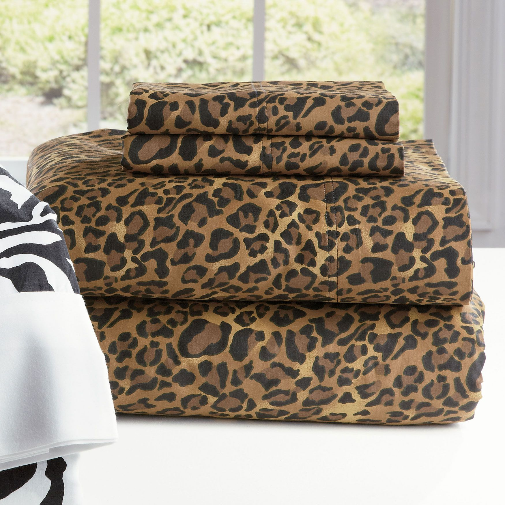 300- Tc Leopard Sheet Set Sheets Brylanehome In 2019