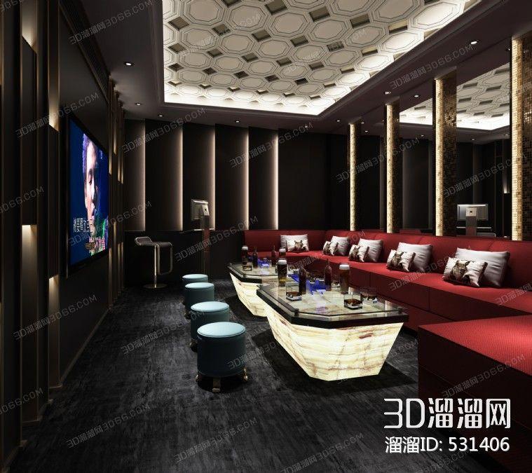 Semicircular Ktv Room Interior Design: Vip Room, Room, Home Decor